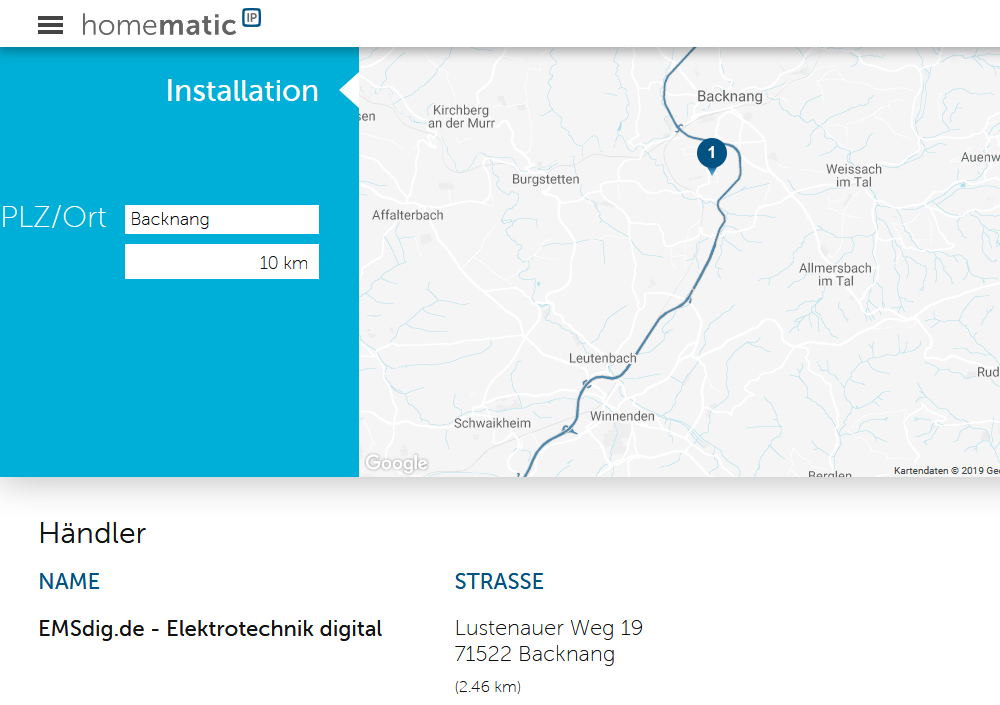 homematice ip wired installateur in backnang
